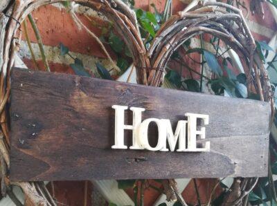Letrero madera e impresión 3D